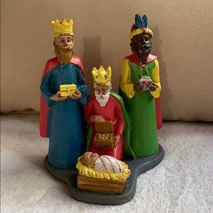 """🇵🇷5.5"""" Wisemen Nativity Baby Jesus Figurine Vtg"""